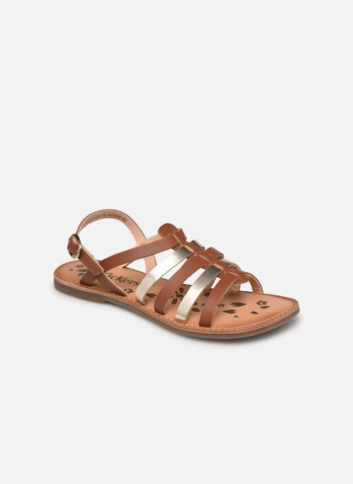 Sandalen Kickers Dixon braun detaillierte ansicht/modell