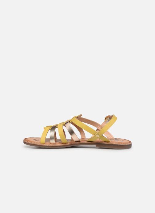 Sandalen Kickers Dixon gelb ansicht von vorne