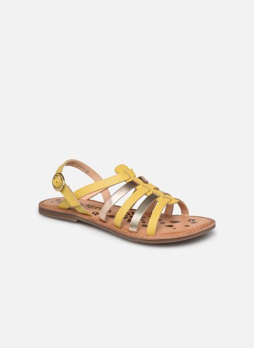 Sandalen Kickers Dixon gelb detaillierte ansicht/modell