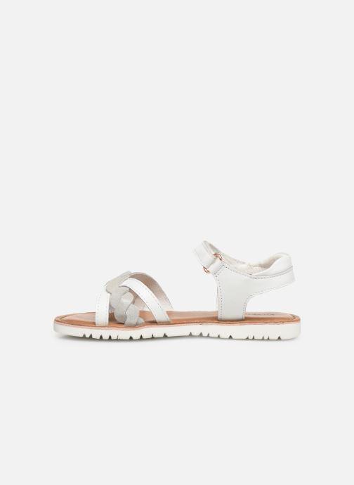 Sandales et nu-pieds Kickers Betty E Blanc vue face