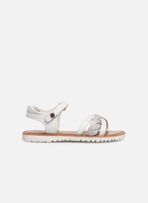 Sandales et nu-pieds Kickers Betty E Blanc vue derrière