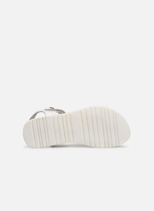 Sandales et nu-pieds Kickers Betty E Blanc vue haut