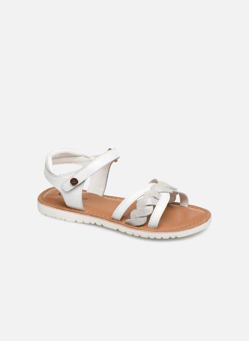 Sandales et nu-pieds Kickers Betty E Blanc vue détail/paire