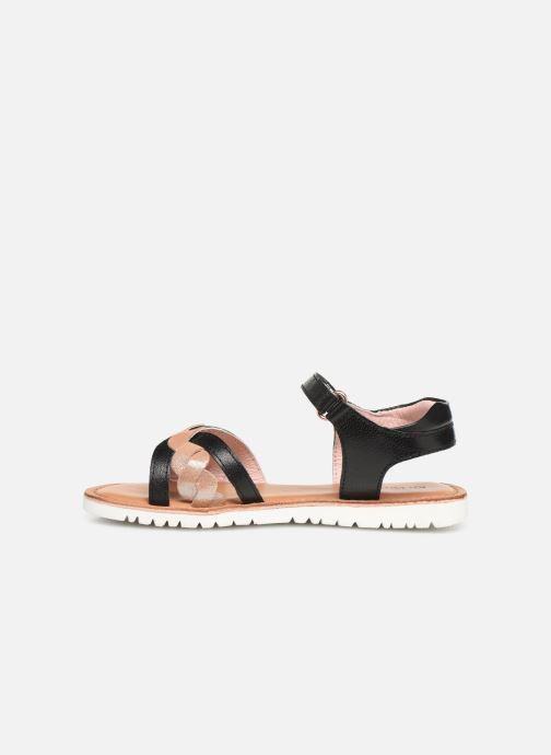 Sandalias Kickers Betty E Negro vista de frente
