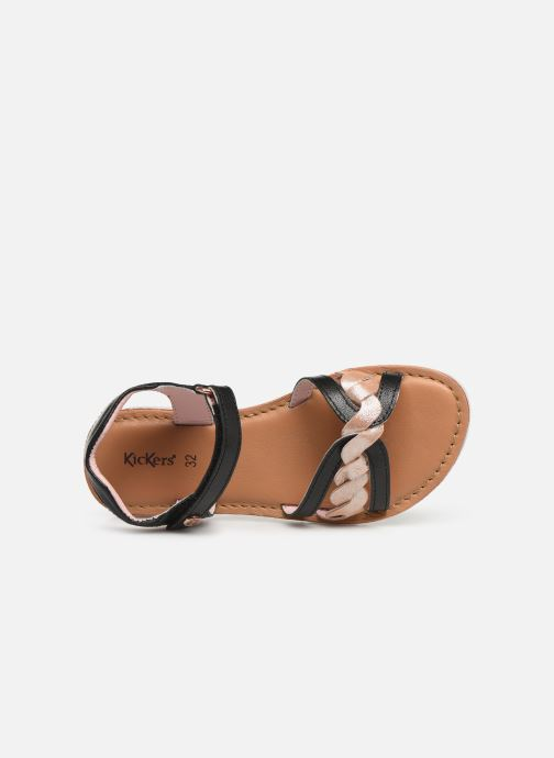 Sandalias Kickers Betty E Negro vista lateral izquierda