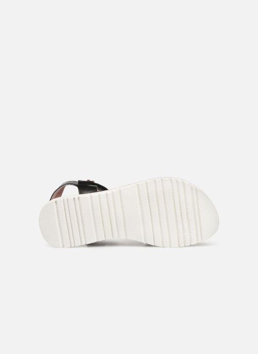 Sandales et nu-pieds Kickers Betty E Noir vue haut