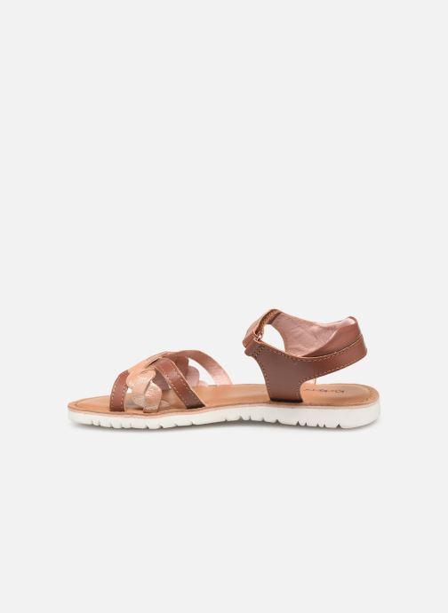 Sandales et nu-pieds Kickers Betty E Marron vue face