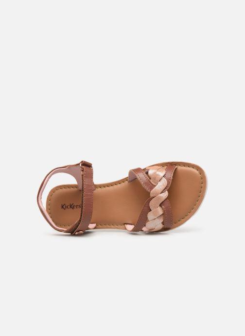 Sandales et nu-pieds Kickers Betty E Marron vue gauche