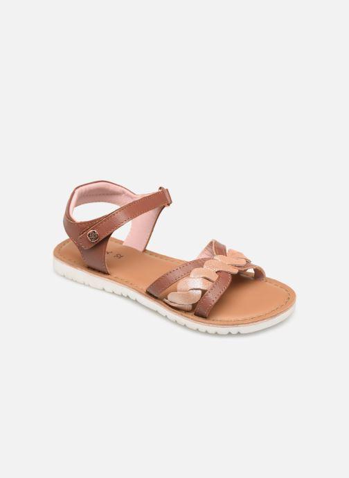 Sandales et nu-pieds Kickers Betty E Marron vue détail/paire