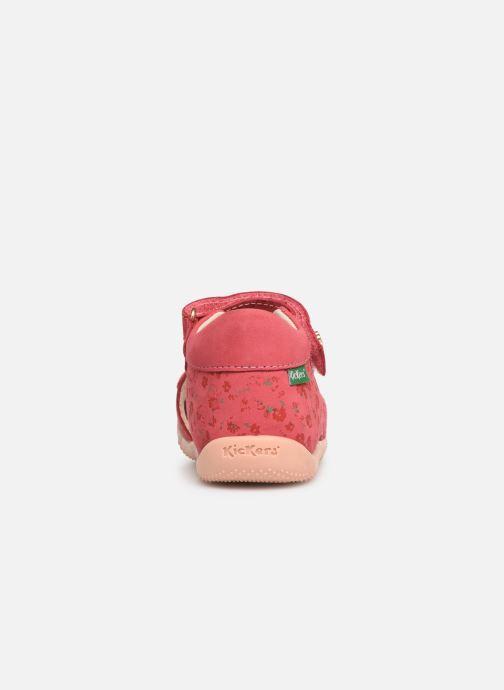 Sandales et nu-pieds Kickers Binsia Rose vue droite