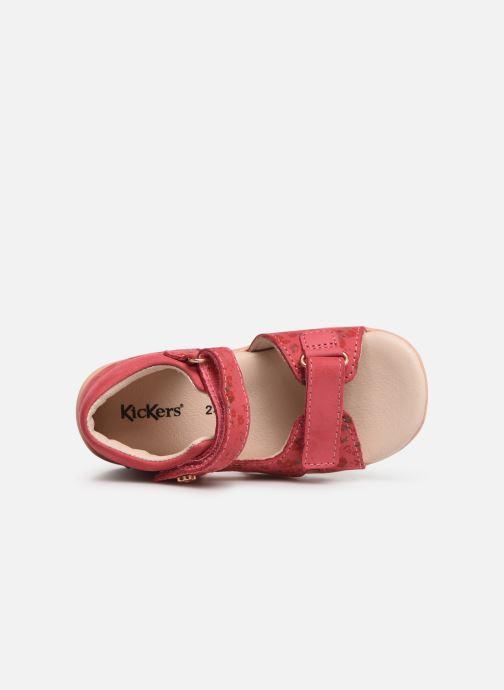 Sandalen Kickers Binsia Roze links