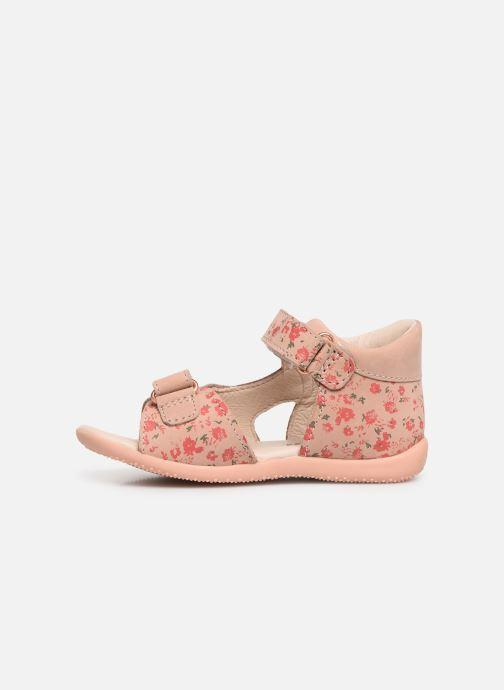 Sandalen Kickers Binsia rosa ansicht von vorne