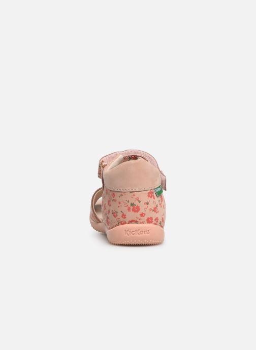 Sandalen Kickers Binsia rosa ansicht von rechts