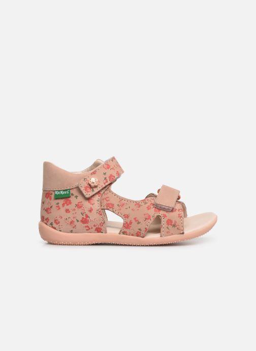 Sandalen Kickers Binsia rosa ansicht von hinten