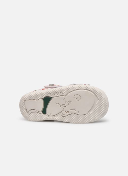 Sandales et nu-pieds Kickers Binsia Blanc vue haut