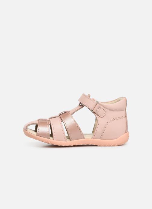 Sandalen Kickers Bigflo rosa ansicht von vorne