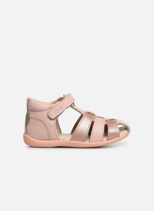 Sandalen Kickers Bigflo rosa ansicht von hinten