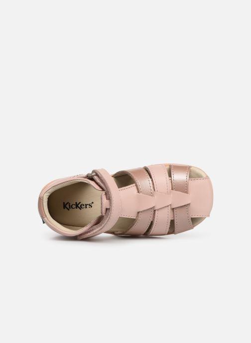 Sandalen Kickers Bigflo rosa ansicht von links