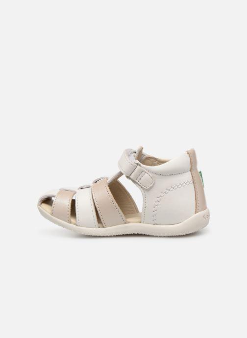 Sandales et nu-pieds Kickers Bigflo Blanc vue face