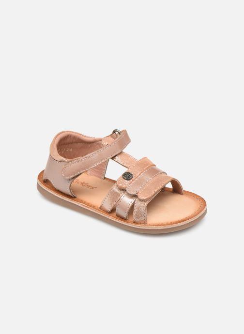 Sandales et nu-pieds Kickers Diams Rose vue détail/paire