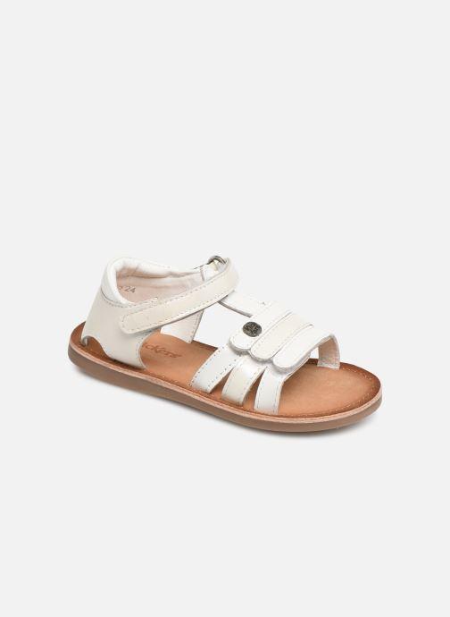 Sandales et nu-pieds Kickers Diams Blanc vue détail/paire