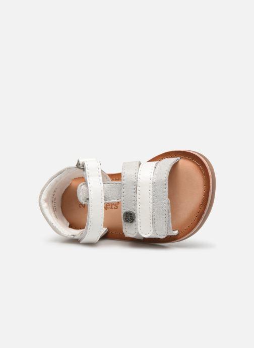 Sandalen Kickers Diams silber ansicht von links
