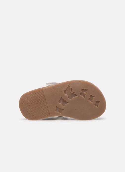 Sandales et nu-pieds Kickers Diams Argent vue haut