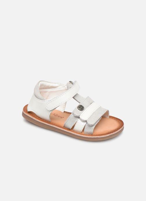 Sandales et nu-pieds Kickers Diams Argent vue détail/paire
