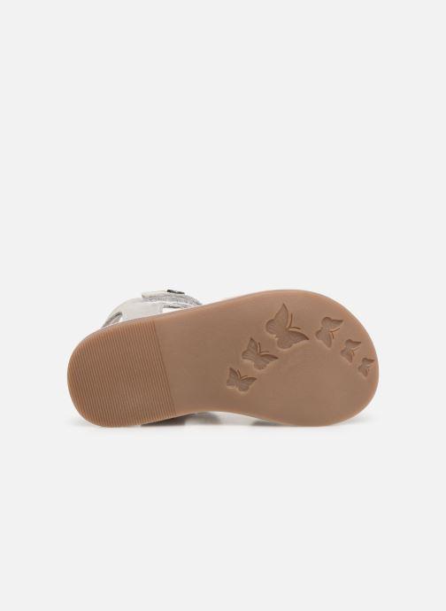 Sandales et nu-pieds Kickers Divimoi Argent vue haut