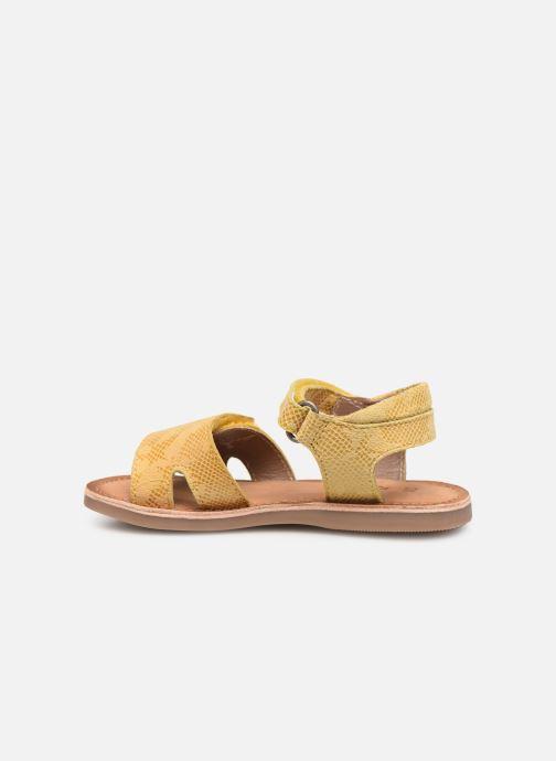 Sandales et nu-pieds Kickers Divimoi Jaune vue face