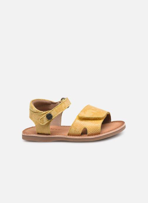 Sandales et nu-pieds Kickers Divimoi Jaune vue derrière