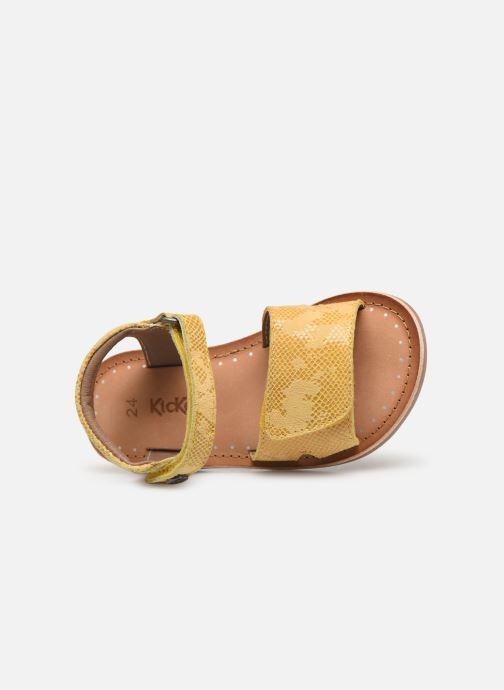 Sandales et nu-pieds Kickers Divimoi Jaune vue gauche