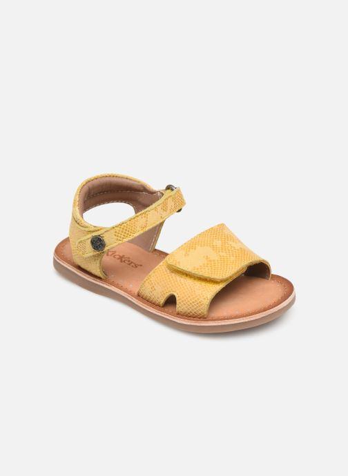 Sandales et nu-pieds Kickers Divimoi Jaune vue détail/paire