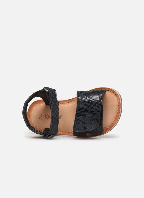 Sandales et nu-pieds Kickers Divimoi Noir vue gauche