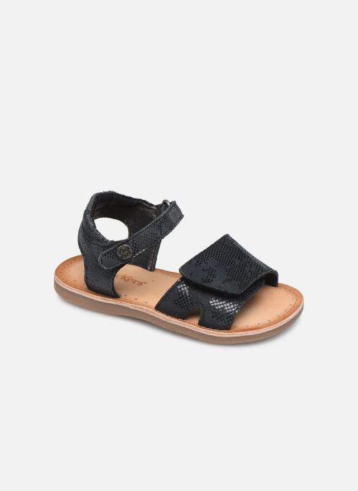 Sandaler Kickers Divimoi Sort detaljeret billede af skoene