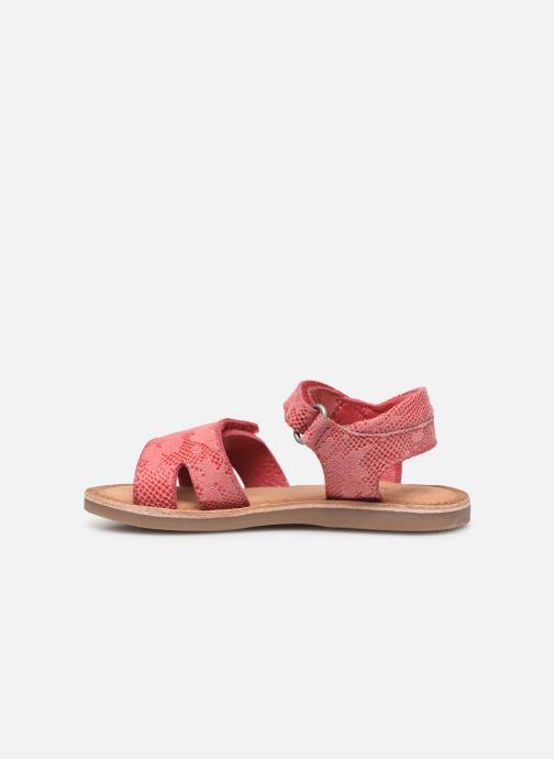 Sandales et nu-pieds Kickers Divimoi Rose vue face