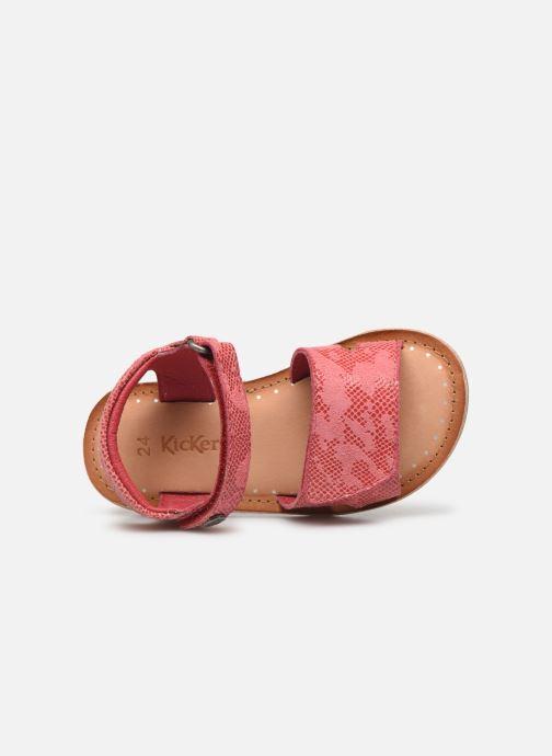 Sandales et nu-pieds Kickers Divimoi Rose vue gauche