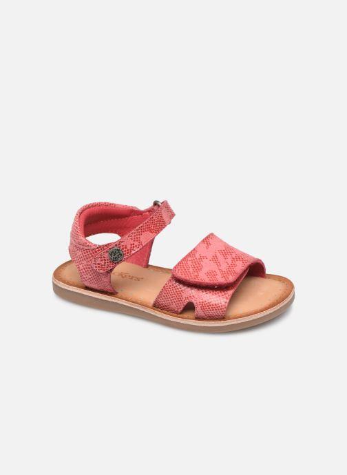 Sandales et nu-pieds Kickers Divimoi Rose vue détail/paire
