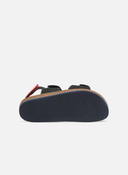 Sandales et nu-pieds Kickers First Bleu vue haut