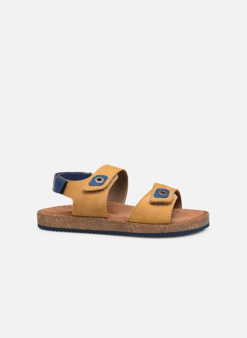 Sandales et nu-pieds Kickers First Jaune vue derrière