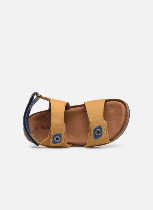 Sandales et nu-pieds Kickers First Jaune vue gauche