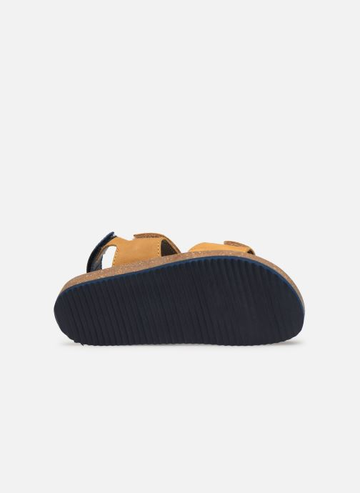 Sandales et nu-pieds Kickers First Jaune vue haut