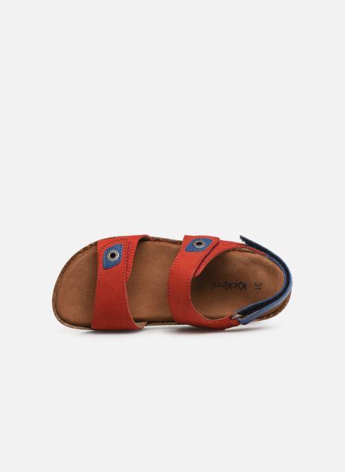 Sandales et nu-pieds Kickers First Rouge vue gauche