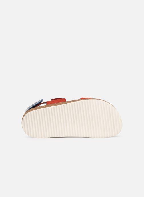 Sandales et nu-pieds Kickers First Rouge vue haut