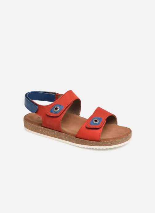 Sandales et nu-pieds Kickers First Rouge vue détail/paire