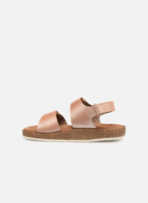Sandalias Kickers First Rosa vista de frente