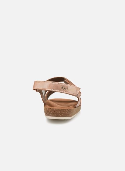 Sandalias Kickers First Rosa vista lateral derecha