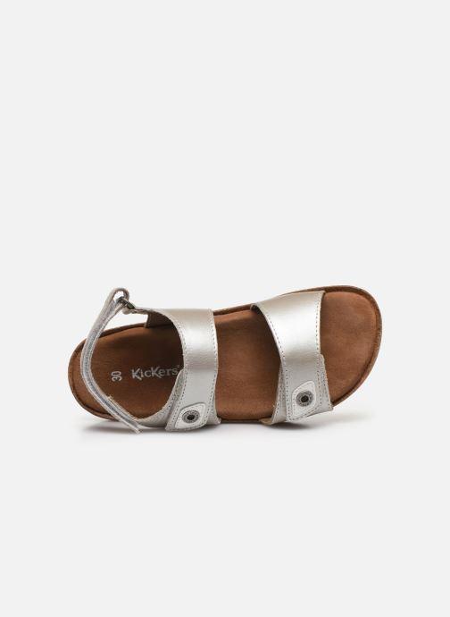 Sandales et nu-pieds Kickers First Argent vue gauche