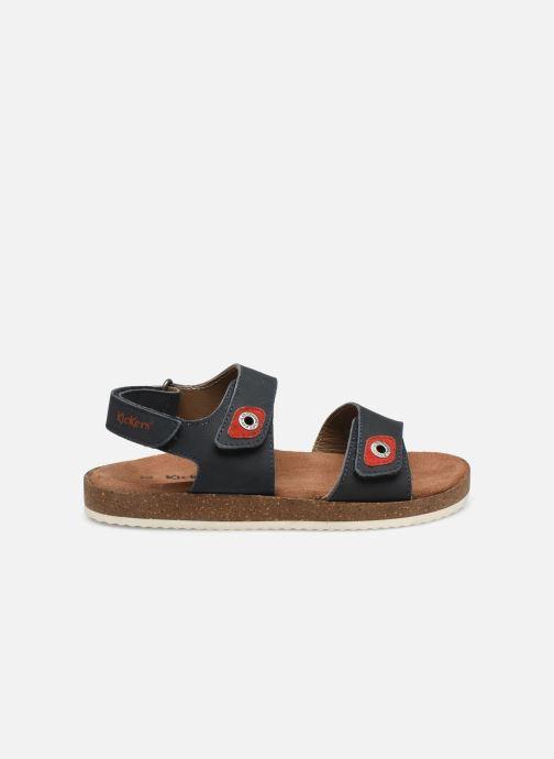 Sandales et nu-pieds Kickers First Bleu vue derrière