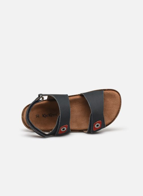 Sandales et nu-pieds Kickers First Bleu vue gauche